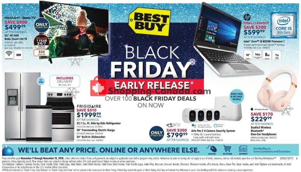 Flyer Best Buy Canada - from Friday November 9, 2018 to Thursday November 15, 2018