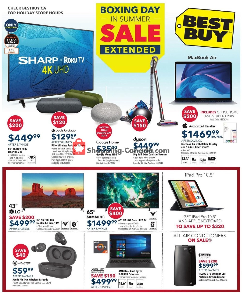 Flyer Best Buy Canada - from Friday July 5, 2019 to Thursday July 11, 2019