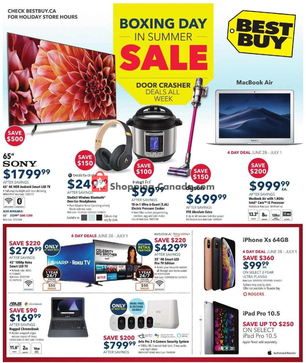Flyer Best Buy Canada - from Friday June 28, 2019 to Thursday July 4, 2019