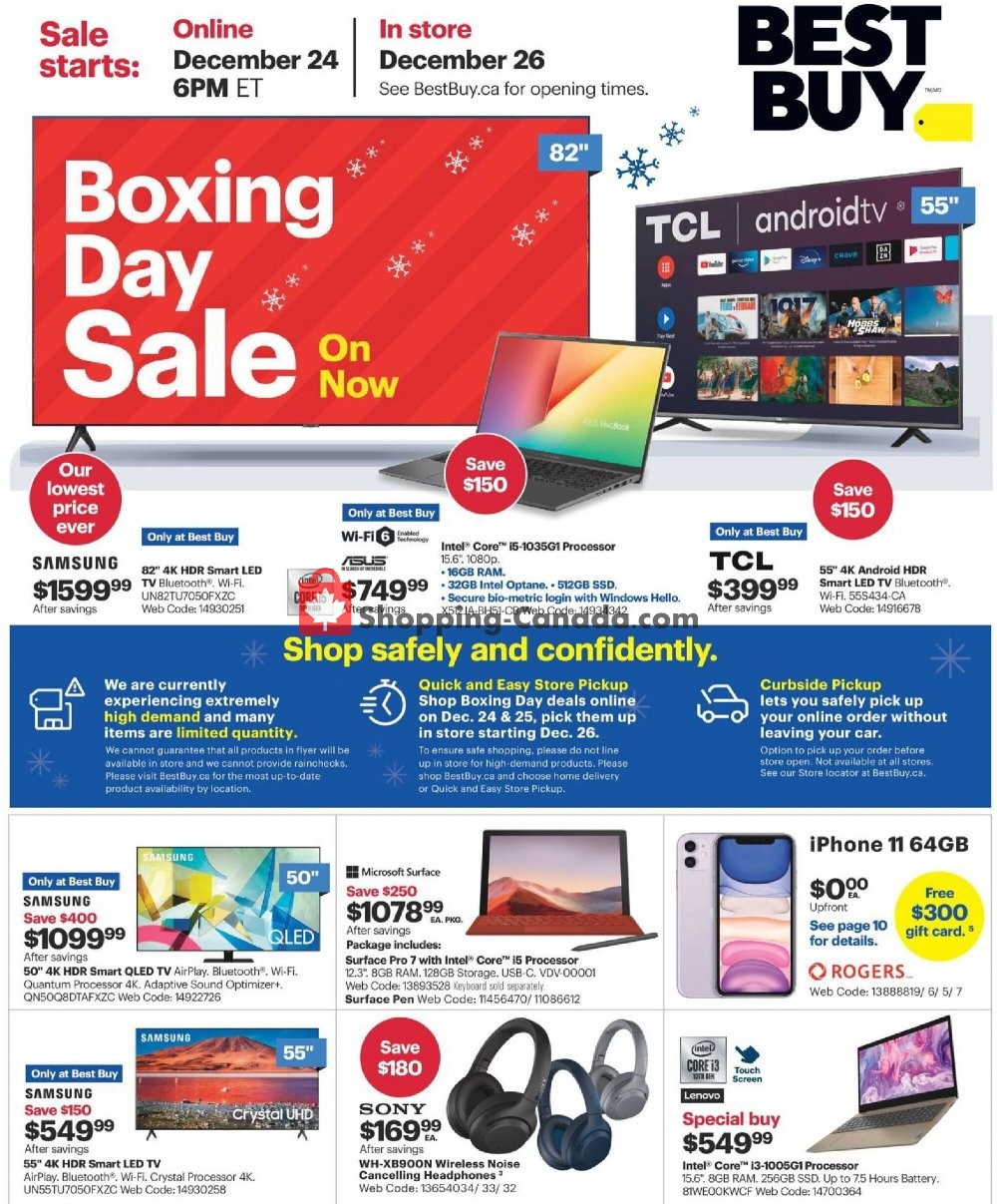 Flyer Best Buy Canada - from Thursday December 24, 2020 to Thursday December 31, 2020