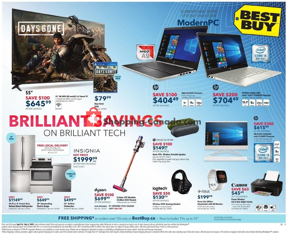 Flyer Best Buy Canada - from Friday April 26, 2019 to Thursday May 2, 2019