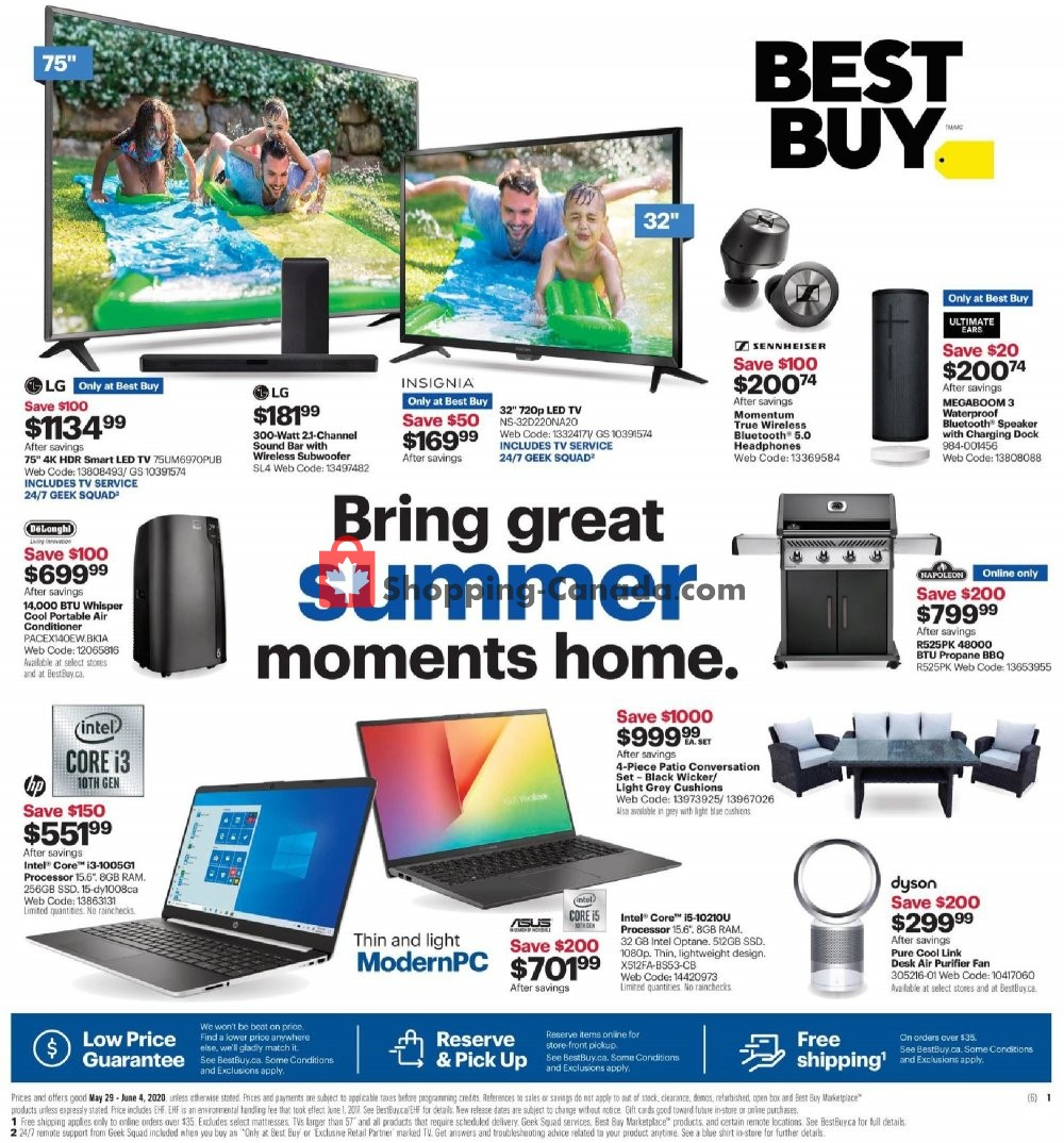 Flyer Best Buy Canada - from Friday May 29, 2020 to Thursday June 4, 2020