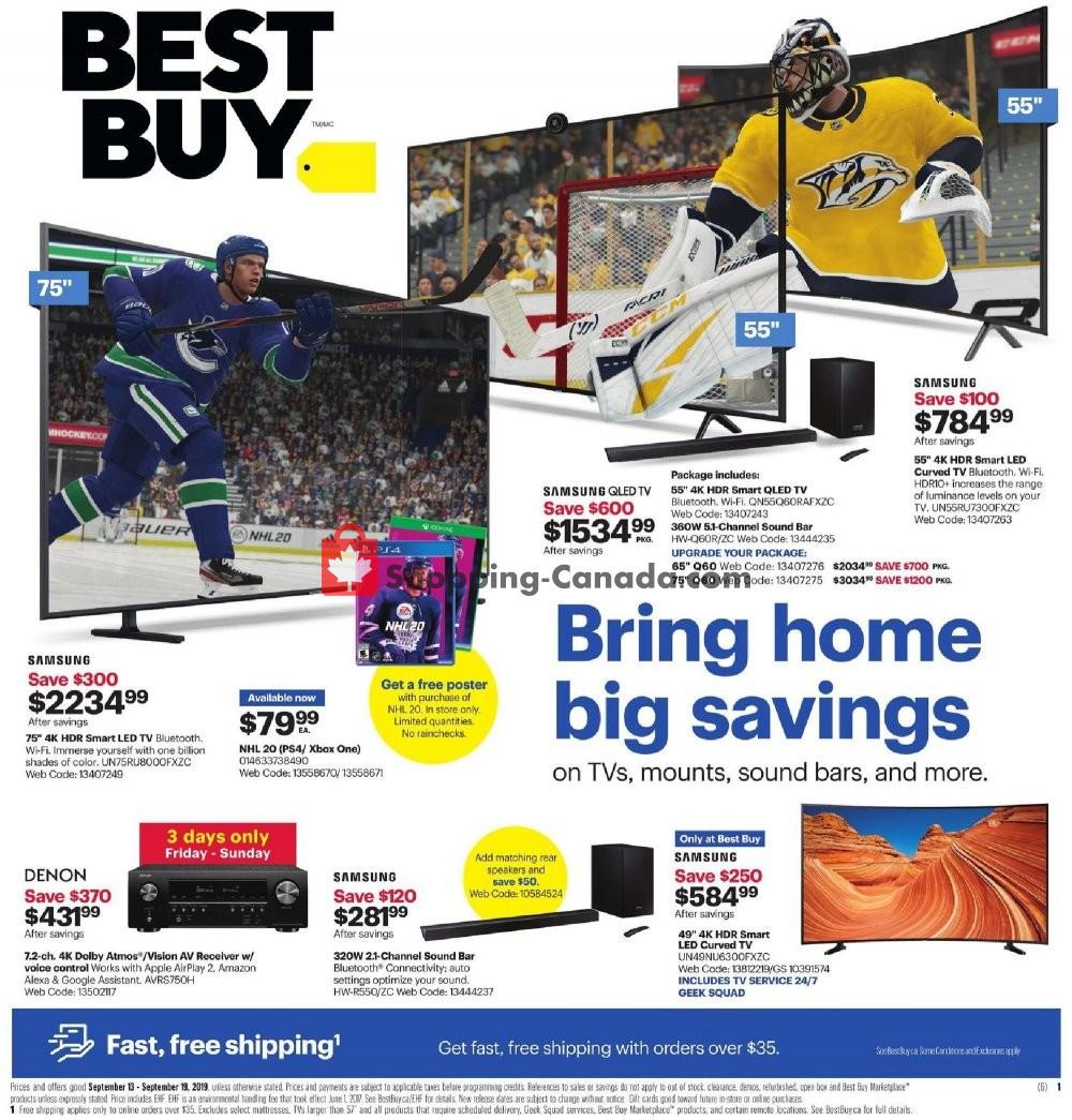 Flyer Best Buy Canada - from Friday September 13, 2019 to Thursday September 19, 2019