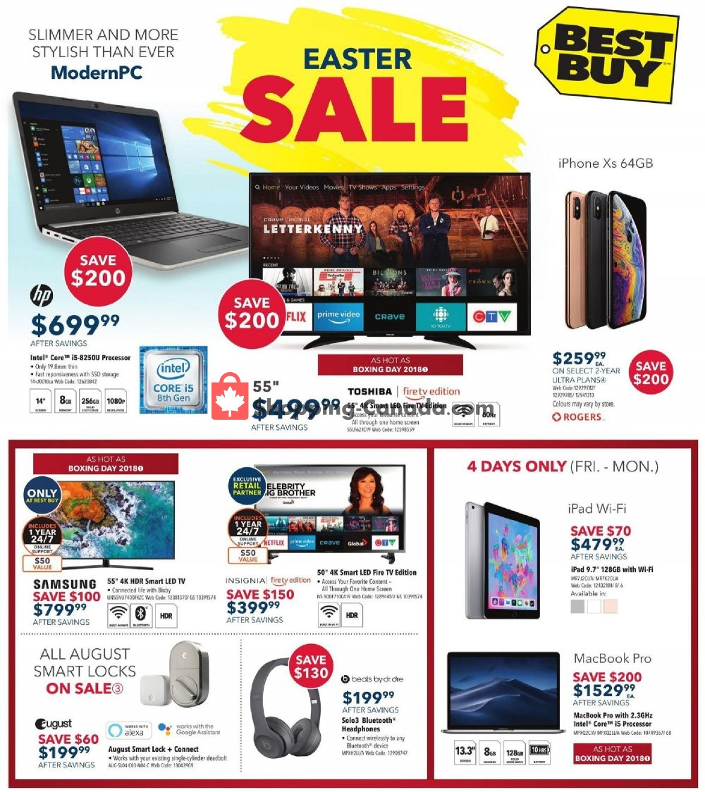 Flyer Best Buy Canada - from Friday April 19, 2019 to Thursday April 25, 2019