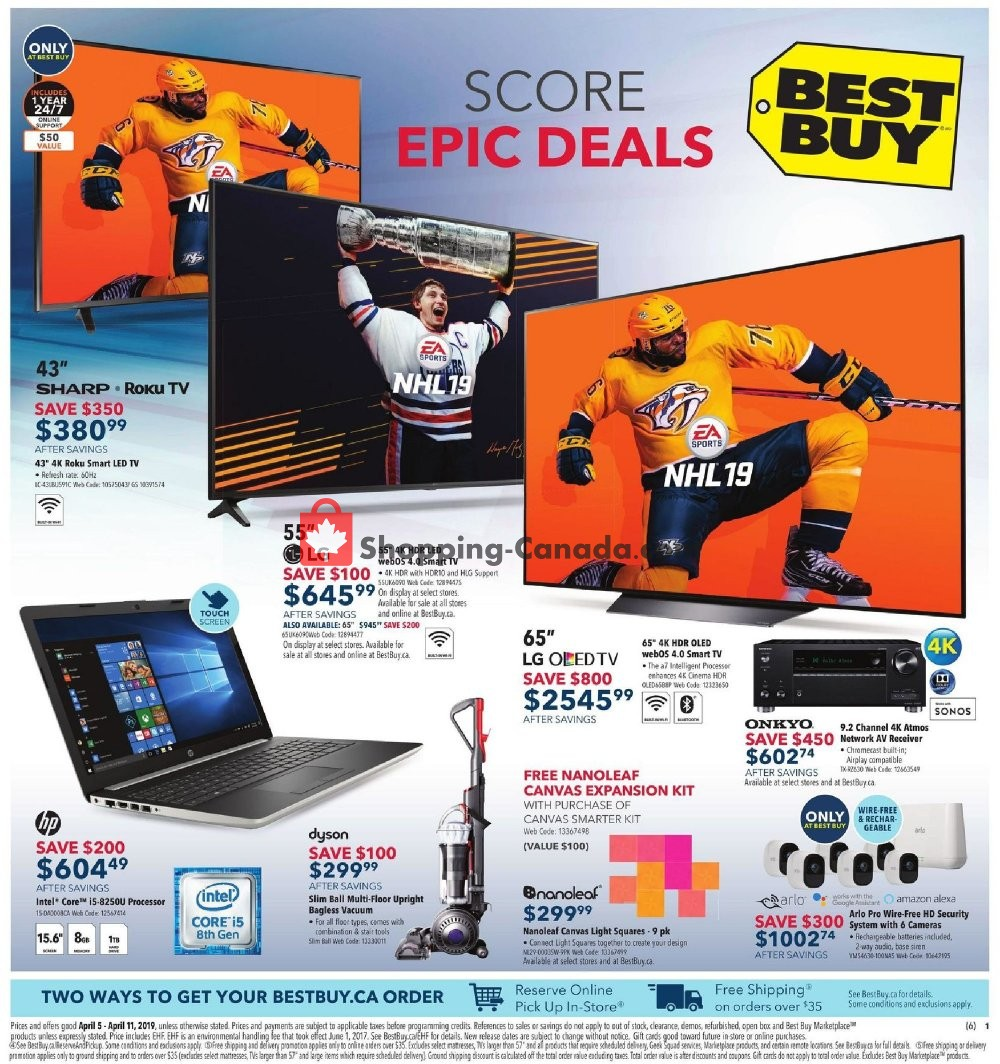 Flyer Best Buy Canada - from Friday April 5, 2019 to Thursday April 11, 2019