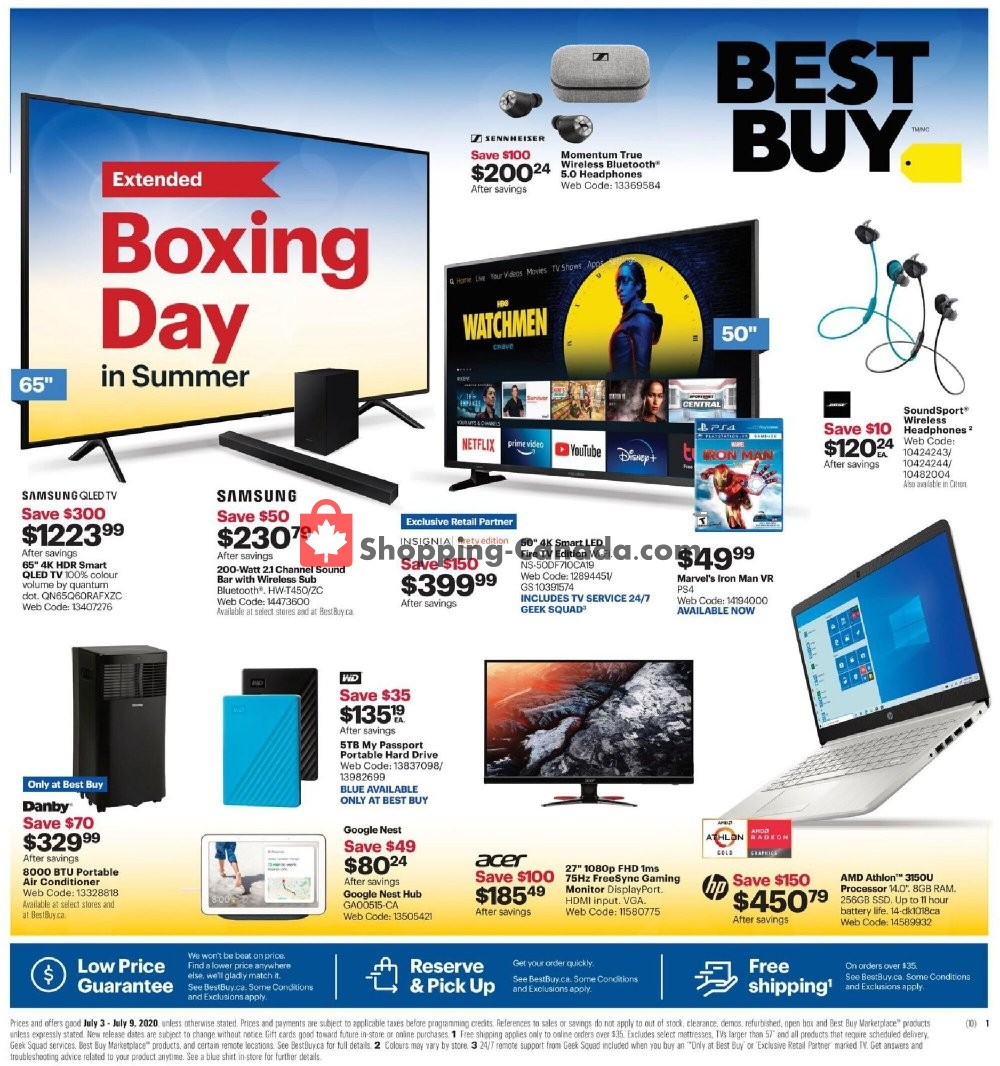 Flyer Best Buy Canada - from Friday July 3, 2020 to Thursday July 9, 2020