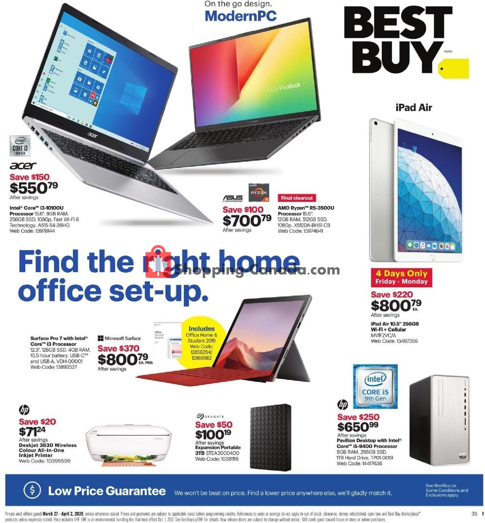 Flyer Best Buy Canada - from Friday March 27, 2020 to Thursday April 2, 2020