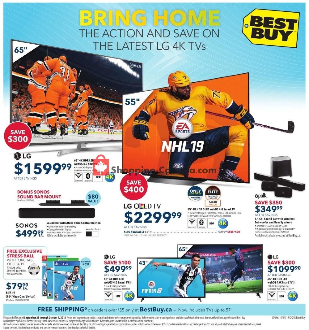 Flyer Best Buy Canada - from Friday September 28, 2018 to Thursday October 4, 2018