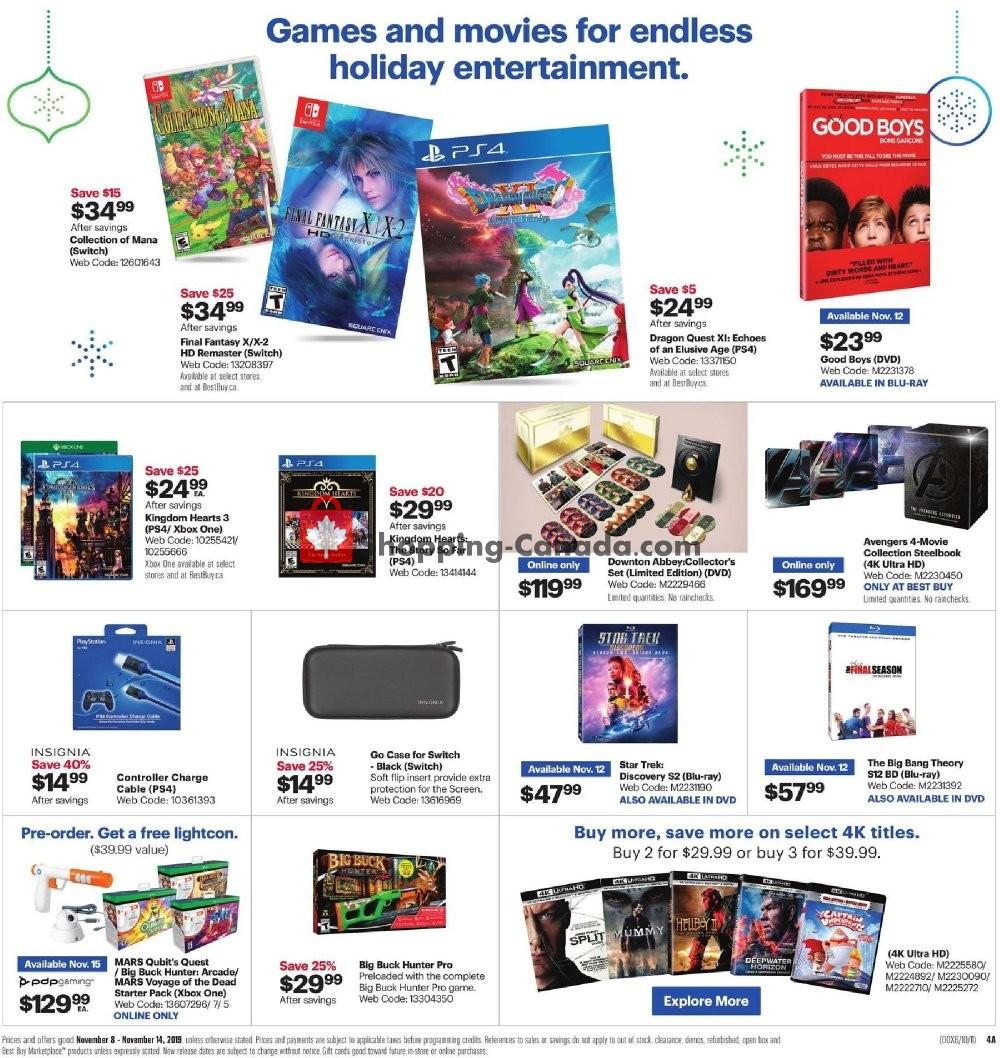 Flyer Best Buy Canada - from Friday November 8, 2019 to Thursday November 14, 2019