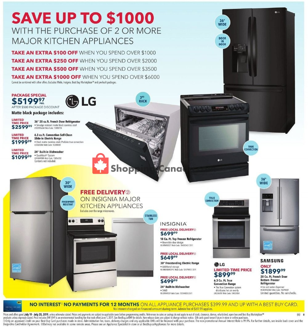 Flyer Best Buy Canada - from Friday July 19, 2019 to Thursday July 25, 2019