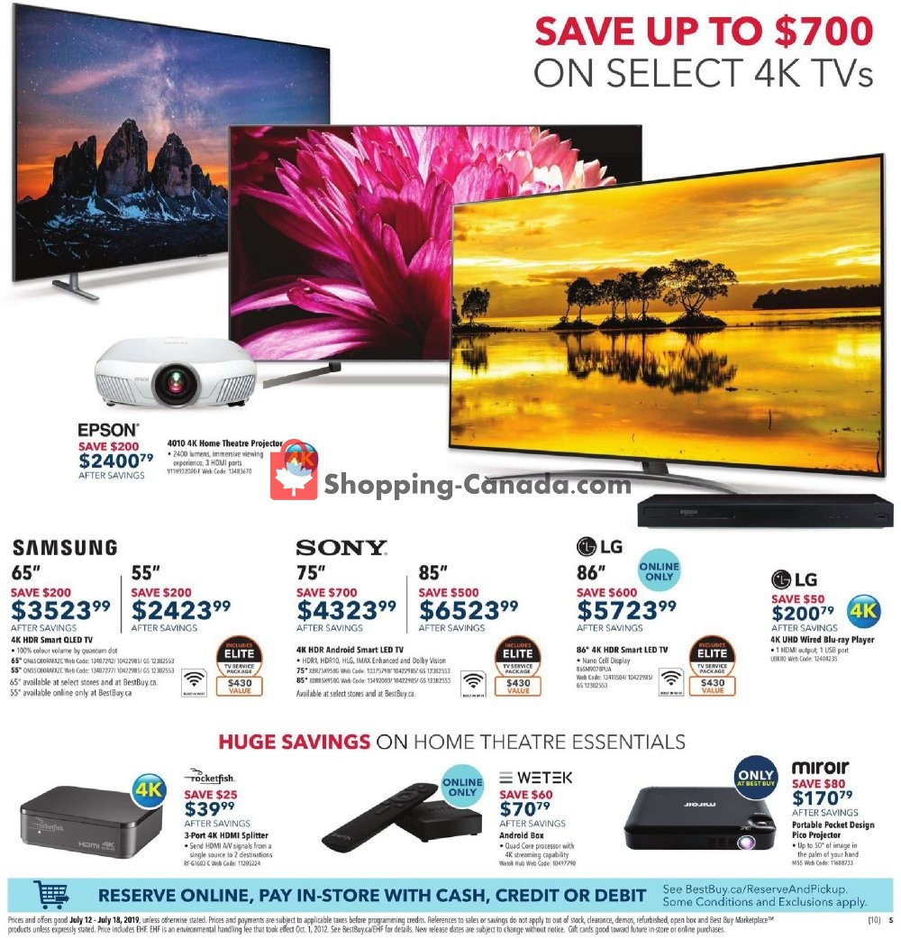 Flyer Best Buy Canada - from Friday July 12, 2019 to Thursday July 18, 2019