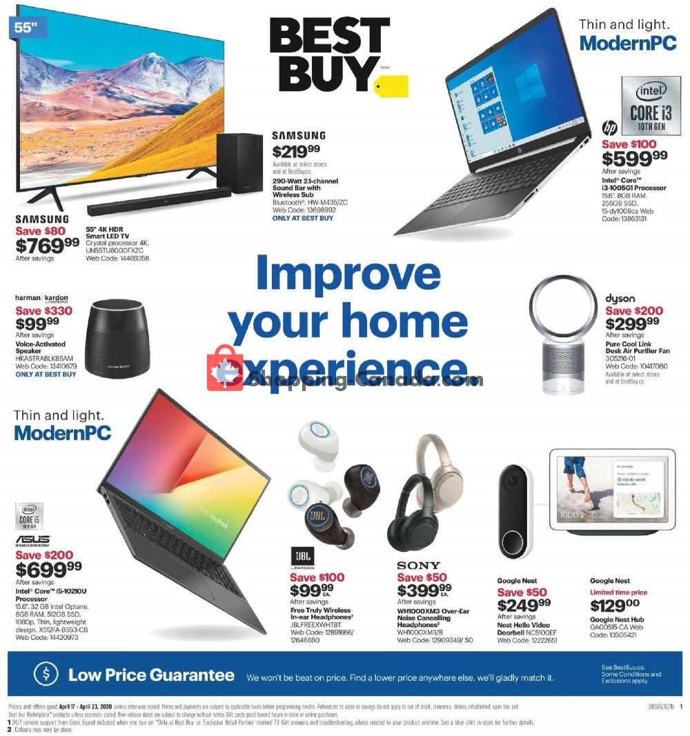 Flyer Best Buy Canada - from Friday April 17, 2020 to Thursday April 23, 2020