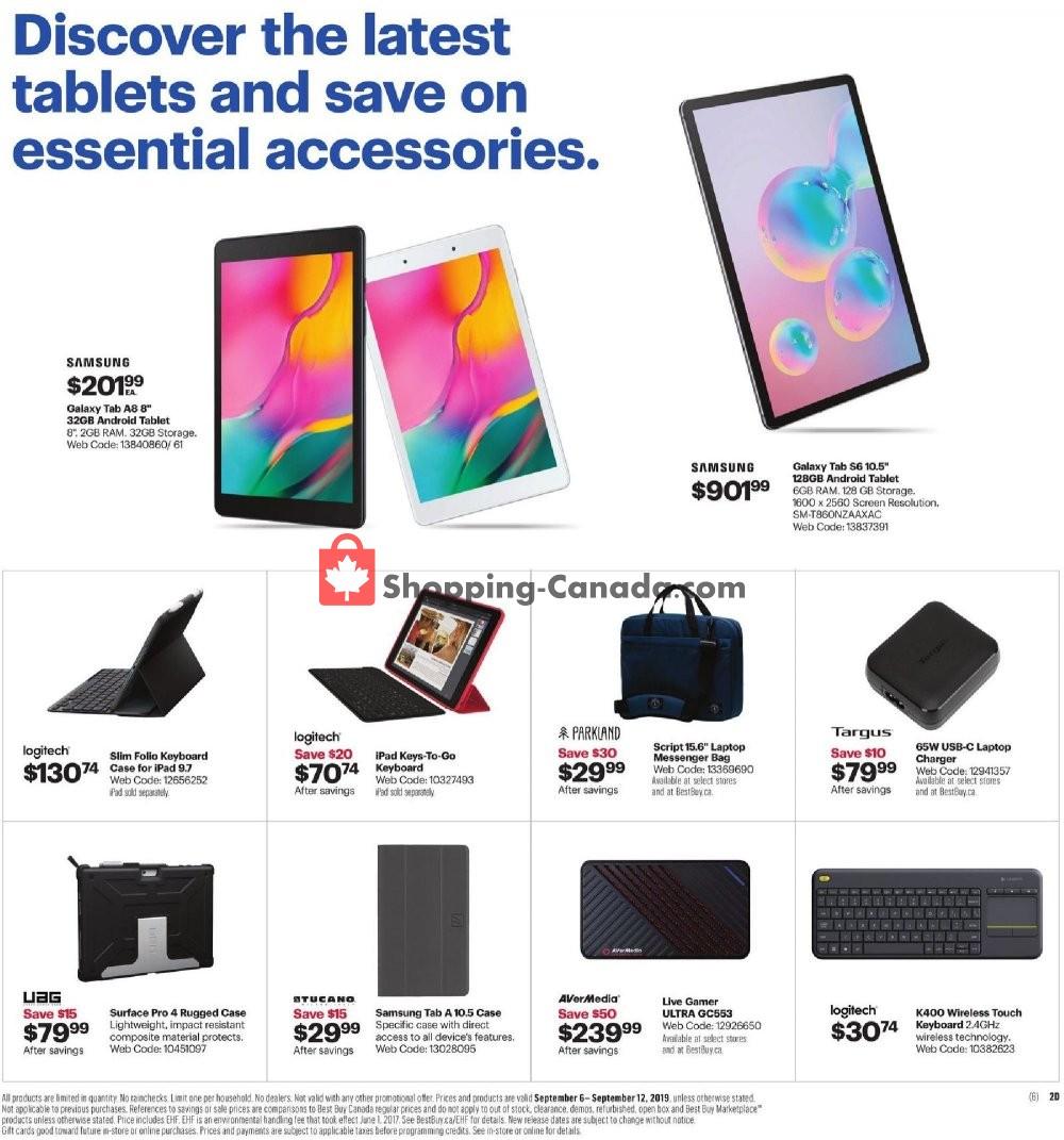 Flyer Best Buy Canada - from Friday September 6, 2019 to Thursday September 12, 2019