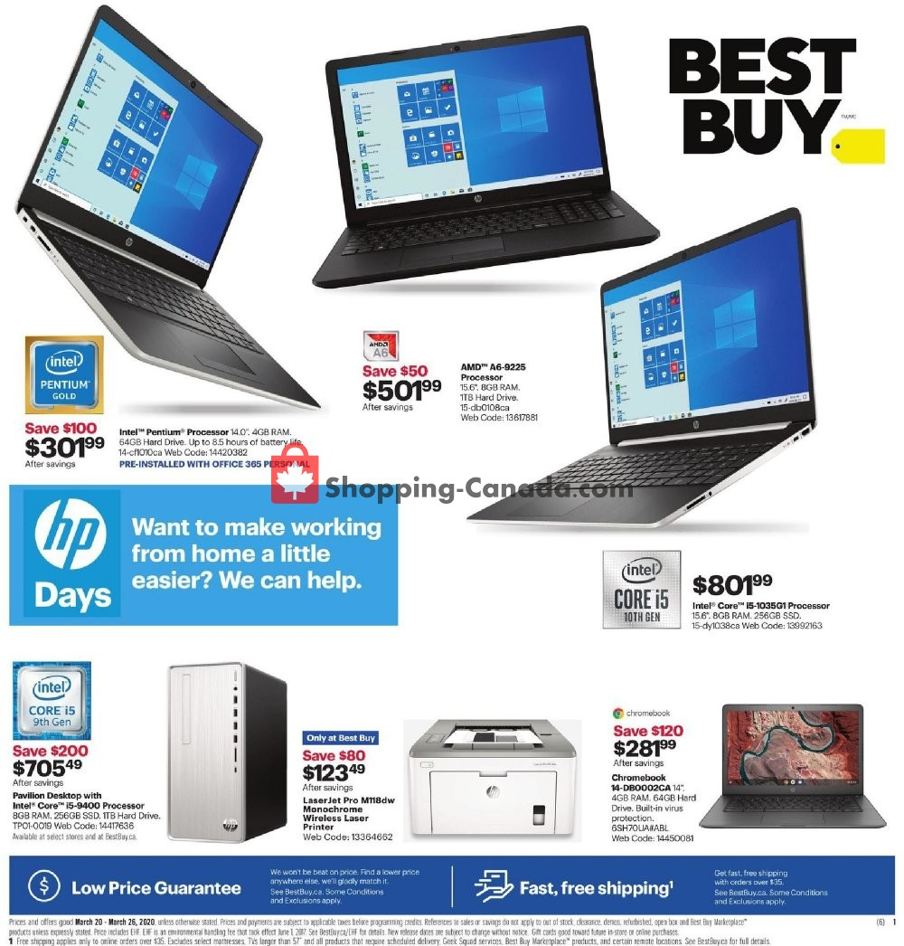 Flyer Best Buy Canada - from Friday March 20, 2020 to Thursday March 26, 2020