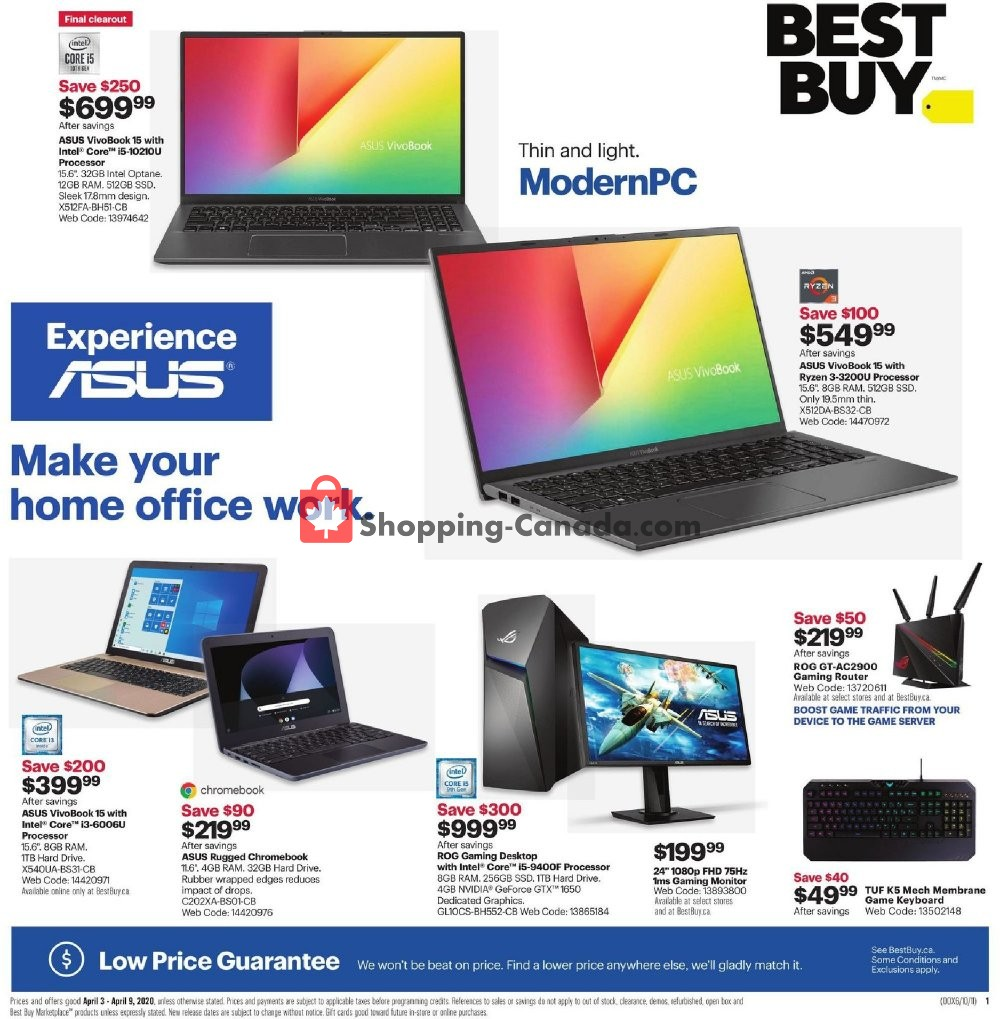 Flyer Best Buy Canada - from Friday April 3, 2020 to Thursday April 9, 2020