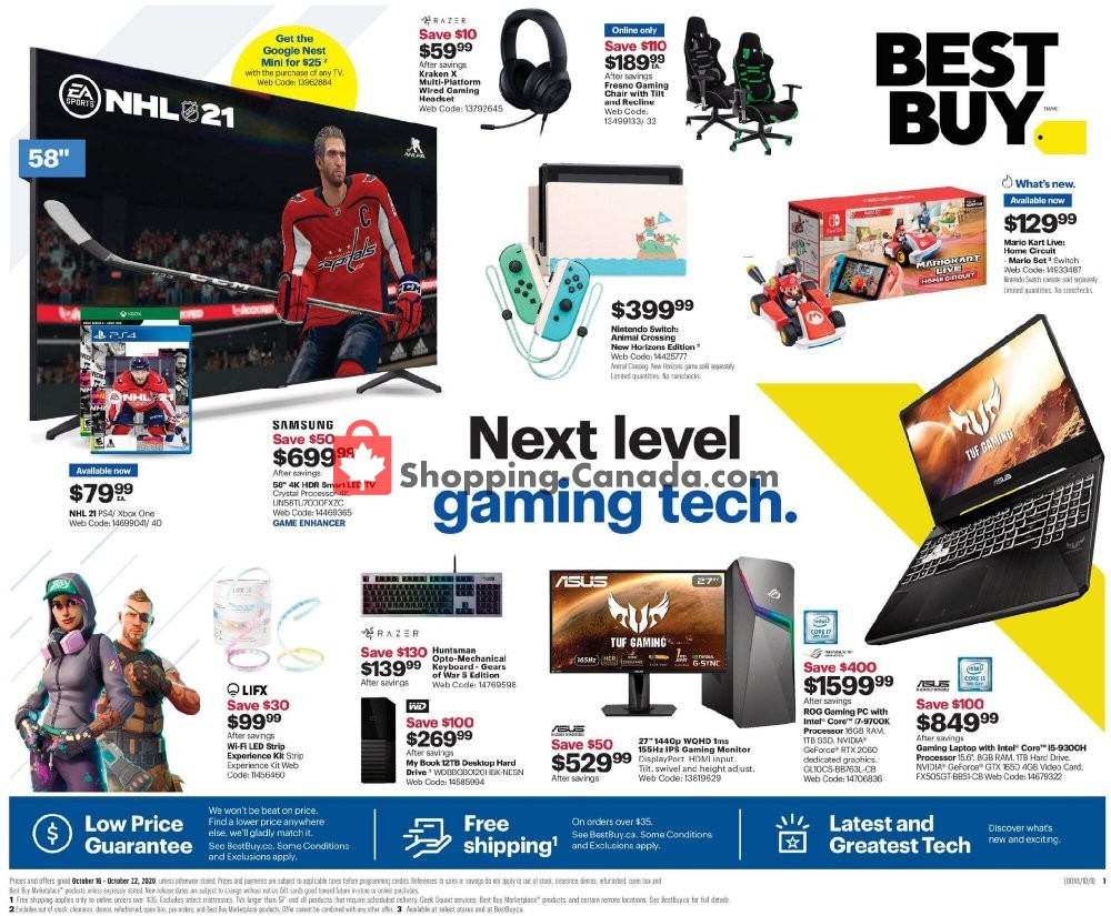 Flyer Best Buy Canada - from Friday October 16, 2020 to Thursday October 22, 2020
