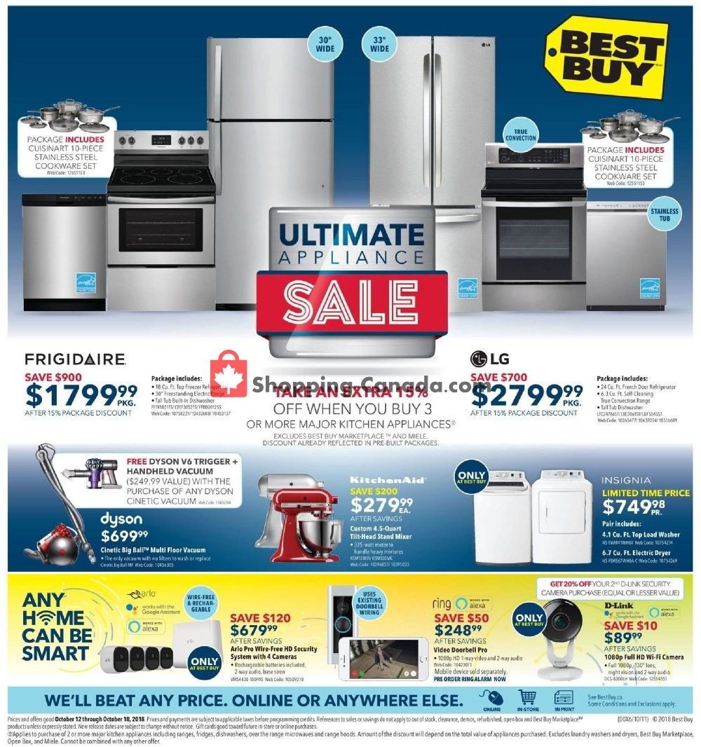 Flyer Best Buy Canada - from Friday October 12, 2018 to Thursday October 18, 2018