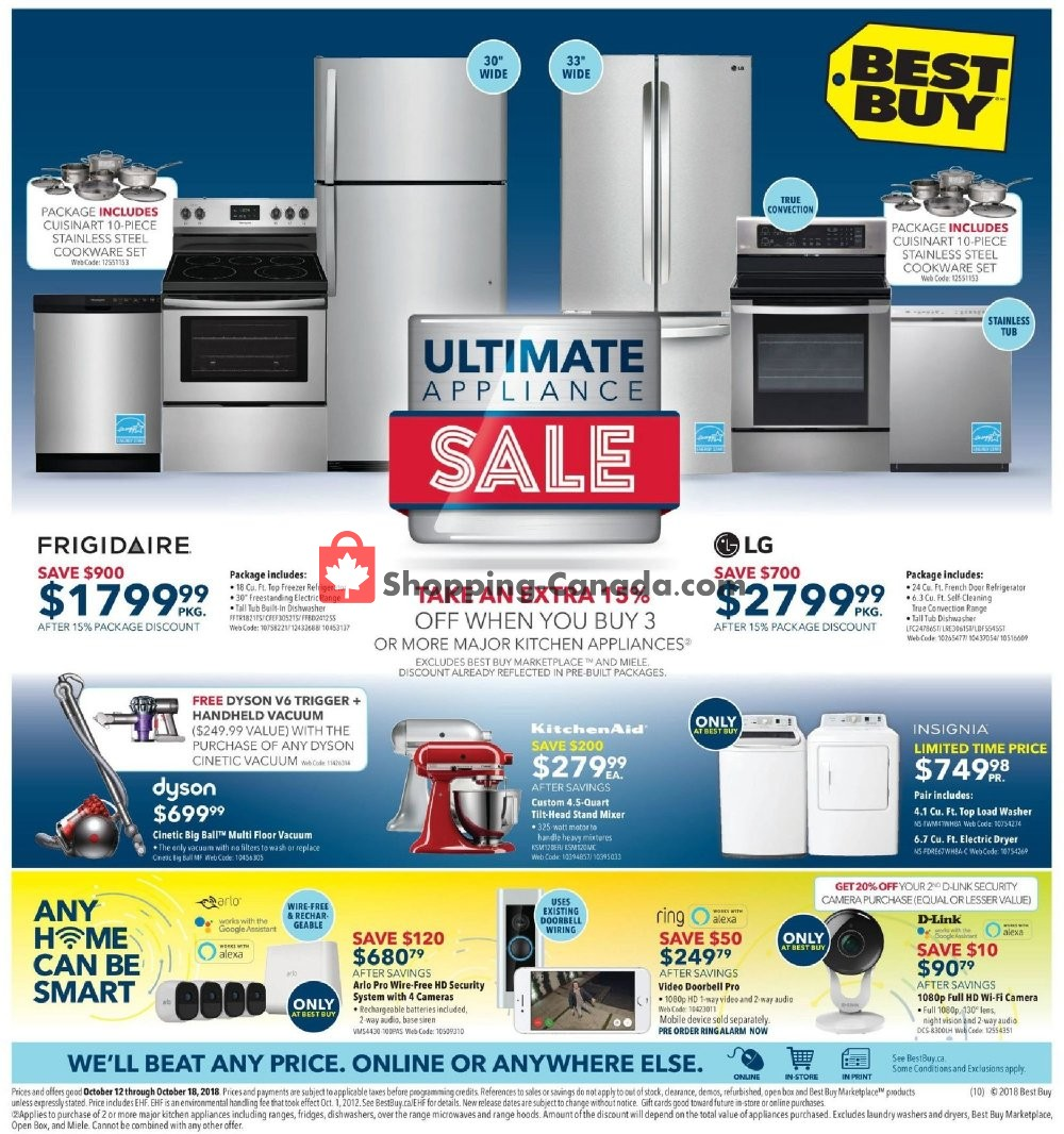Flyer Best Buy Canada - from Friday October 12, 2018 to Thursday October 18, 2018