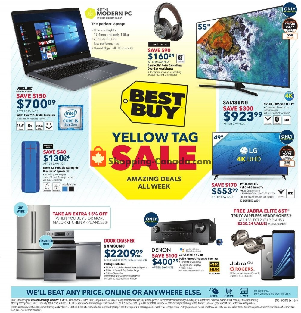 Flyer Best Buy Canada - from Friday October 5, 2018 to Thursday October 11, 2018