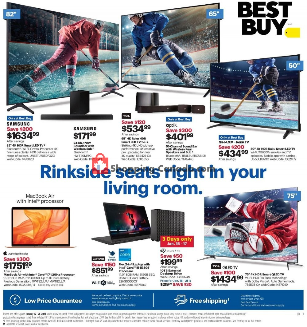 Flyer Best Buy Canada - from Friday January 15, 2021 to Thursday January 21, 2021