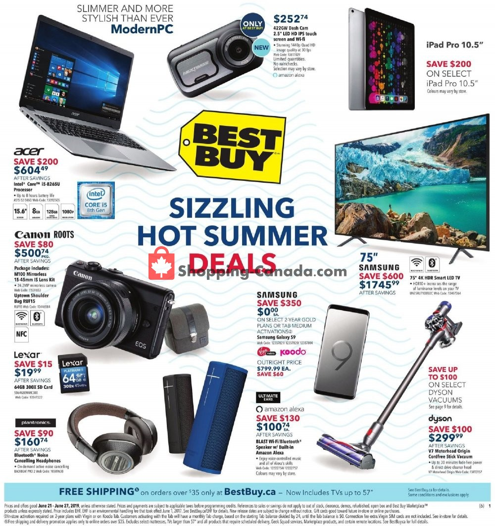 Flyer Best Buy Canada - from Friday June 21, 2019 to Thursday June 27, 2019