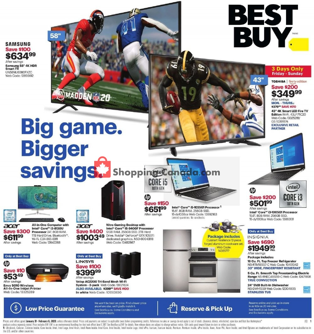 Flyer Best Buy Canada - from Friday January 31, 2020 to Thursday February 6, 2020