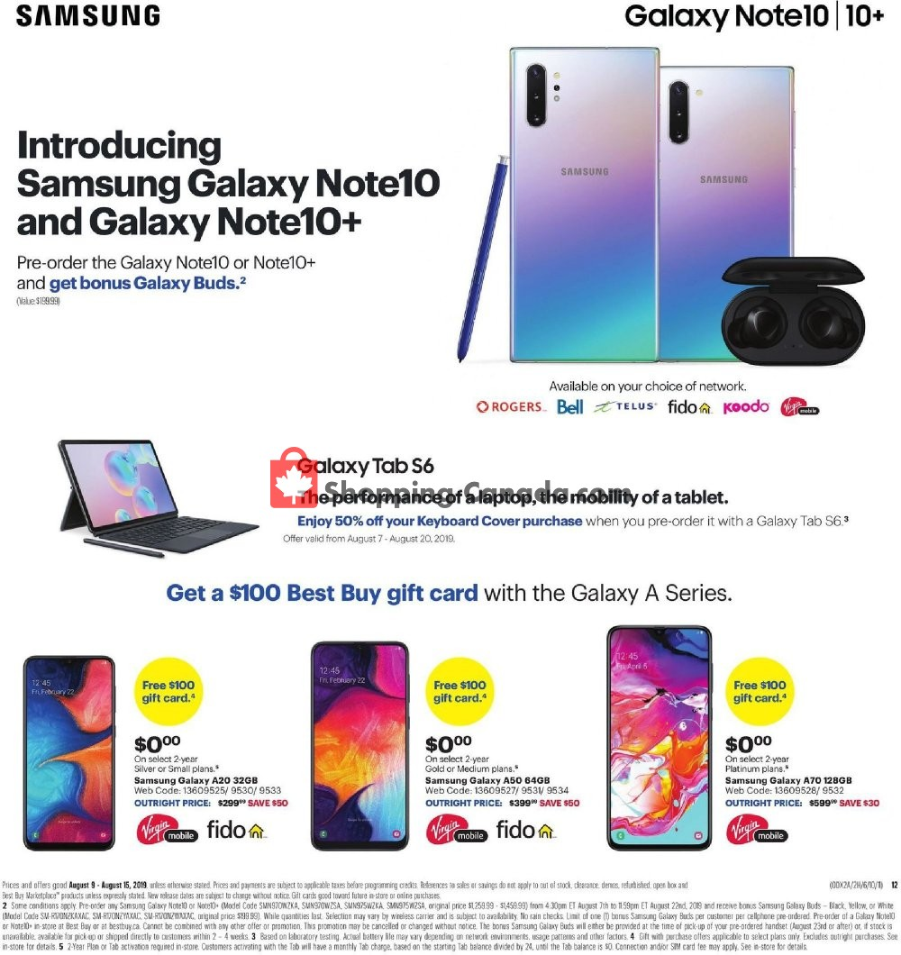 Flyer Best Buy Canada - from Friday August 9, 2019 to Thursday August 15, 2019