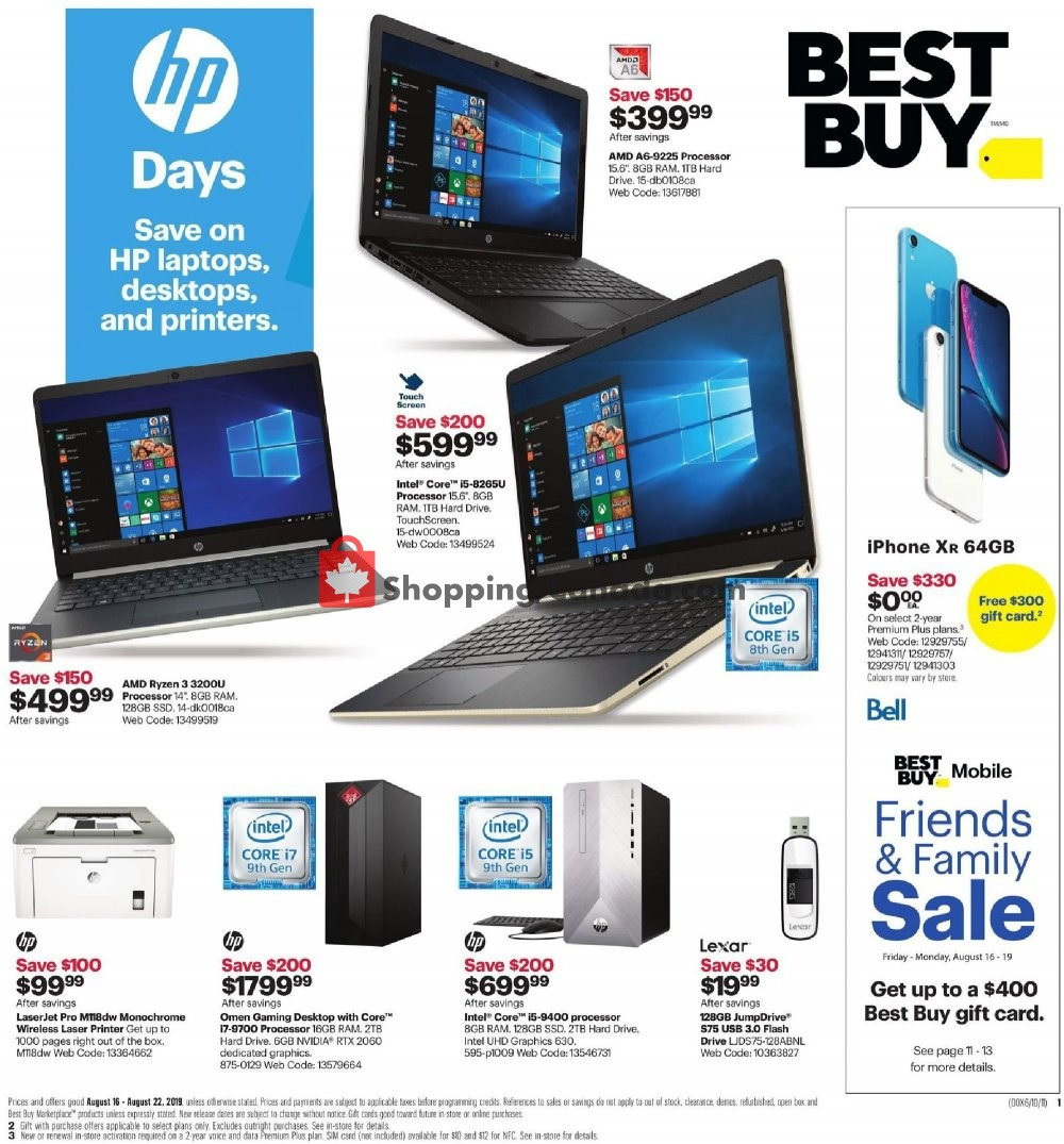 Flyer Best Buy Canada - from Friday August 16, 2019 to Thursday August 22, 2019