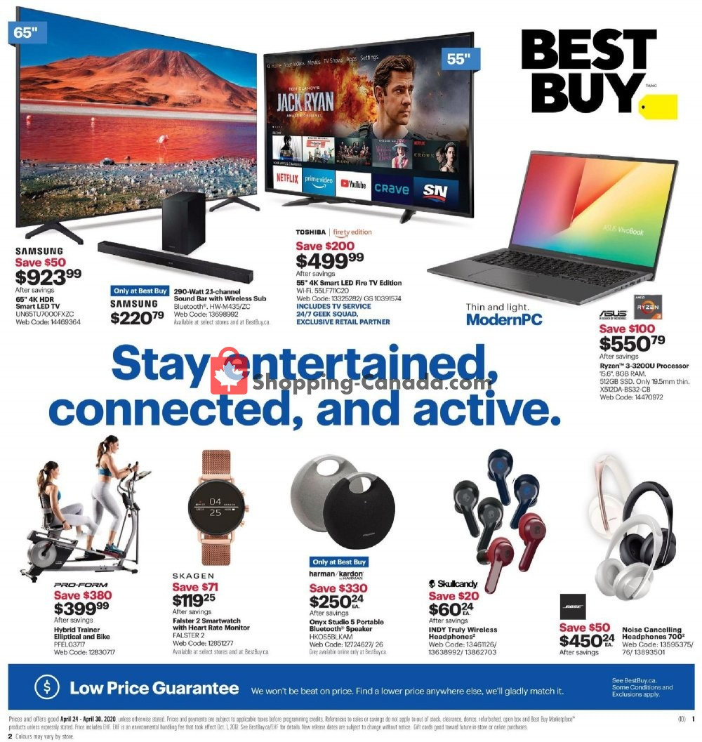 Flyer Best Buy Canada - from Friday April 24, 2020 to Thursday April 30, 2020