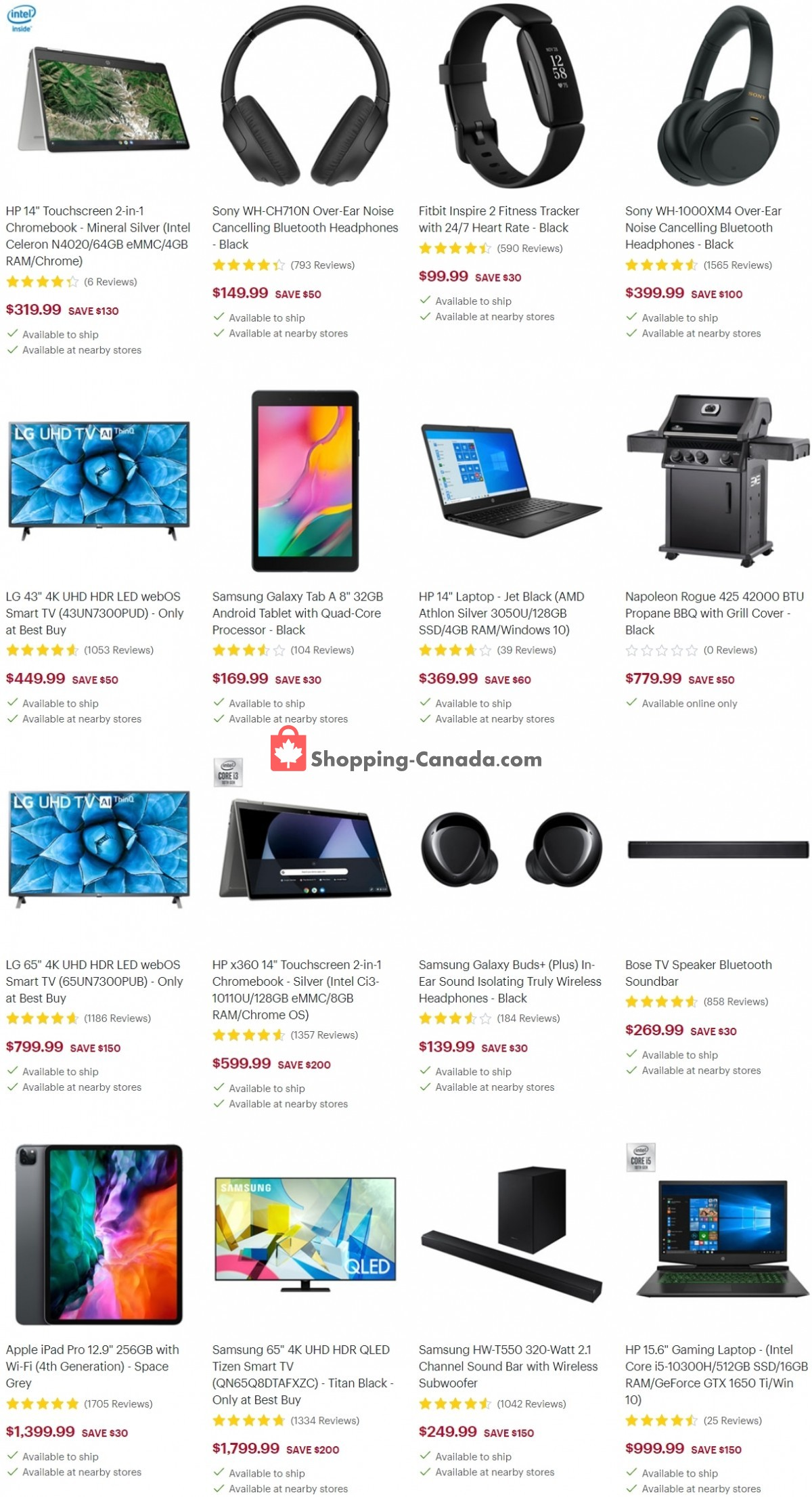 Flyer Best Buy Canada - from Friday March 26, 2021 to Thursday April 1, 2021