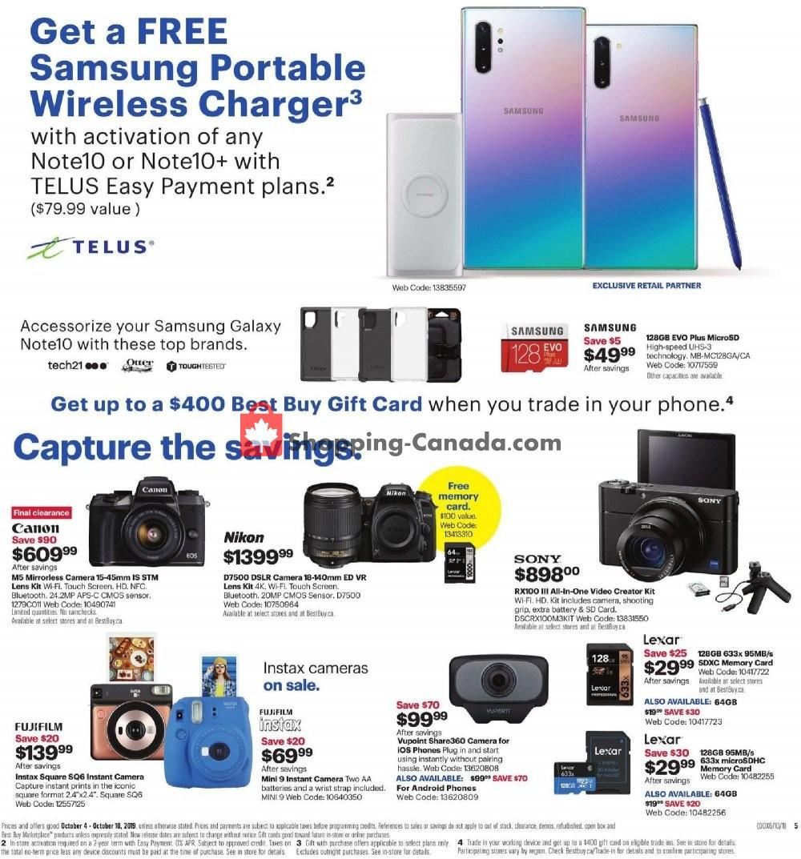 Flyer Best Buy Canada - from Friday October 4, 2019 to Thursday October 10, 2019