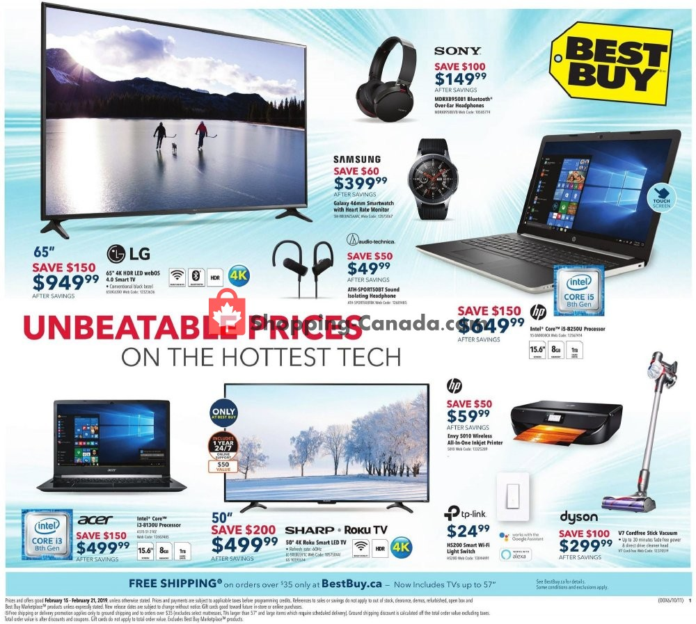 Flyer Best Buy Canada - from Friday February 15, 2019 to Thursday February 21, 2019