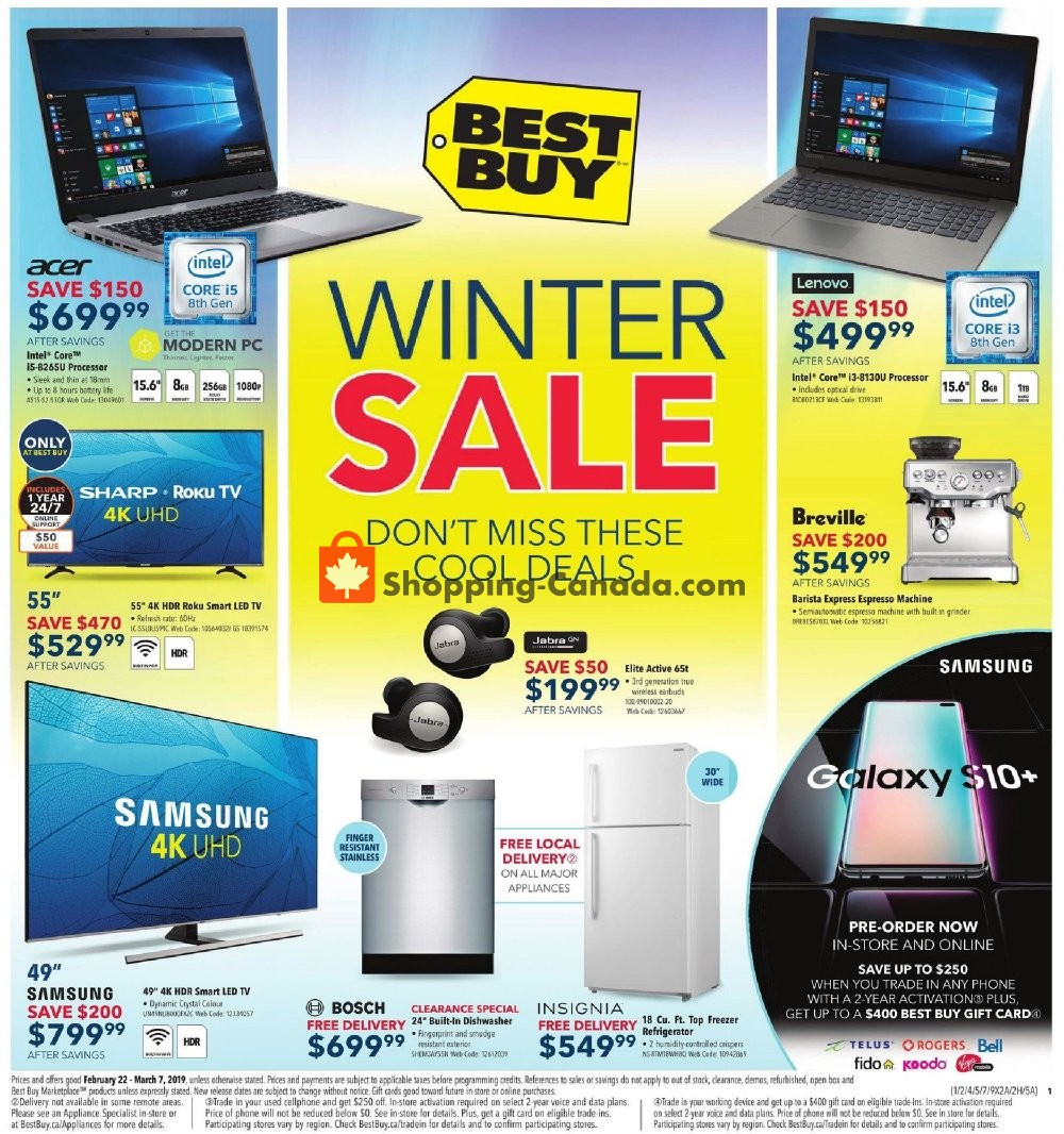 Flyer Best Buy Canada - from Friday February 22, 2019 to Thursday March 7, 2019