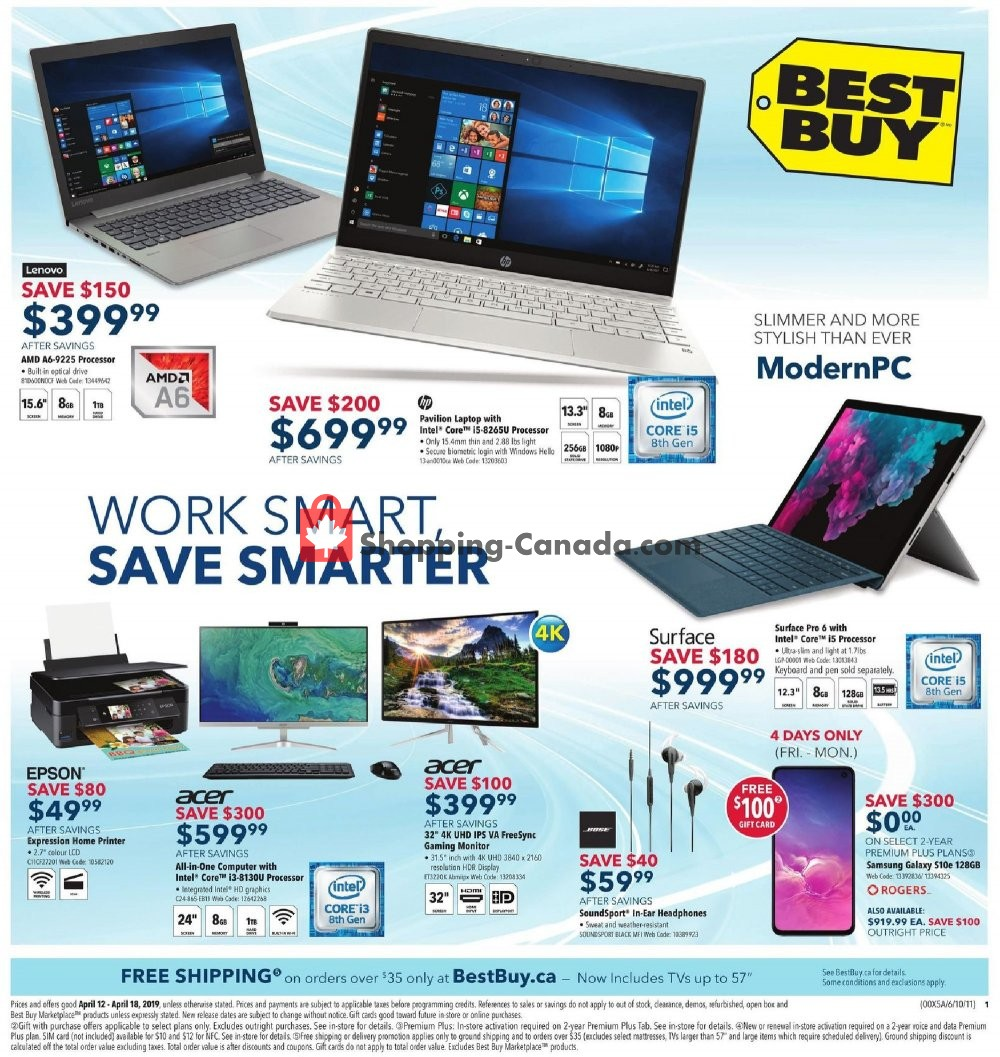 Flyer Best Buy Canada - from Friday April 12, 2019 to Thursday April 18, 2019