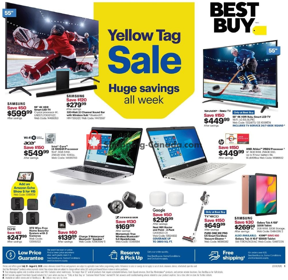 Flyer Best Buy Canada - from Friday July 31, 2020 to Thursday August 6, 2020