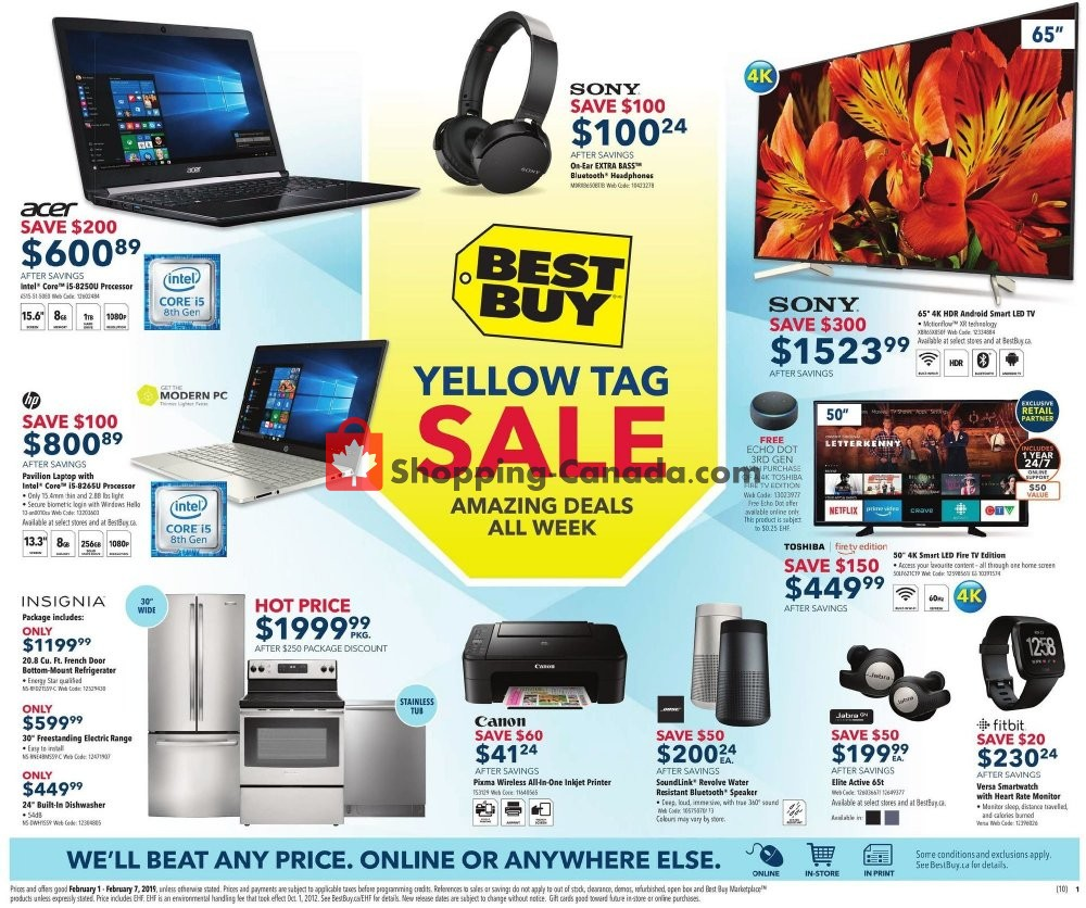 Flyer Best Buy Canada - from Friday February 1, 2019 to Thursday February 7, 2019