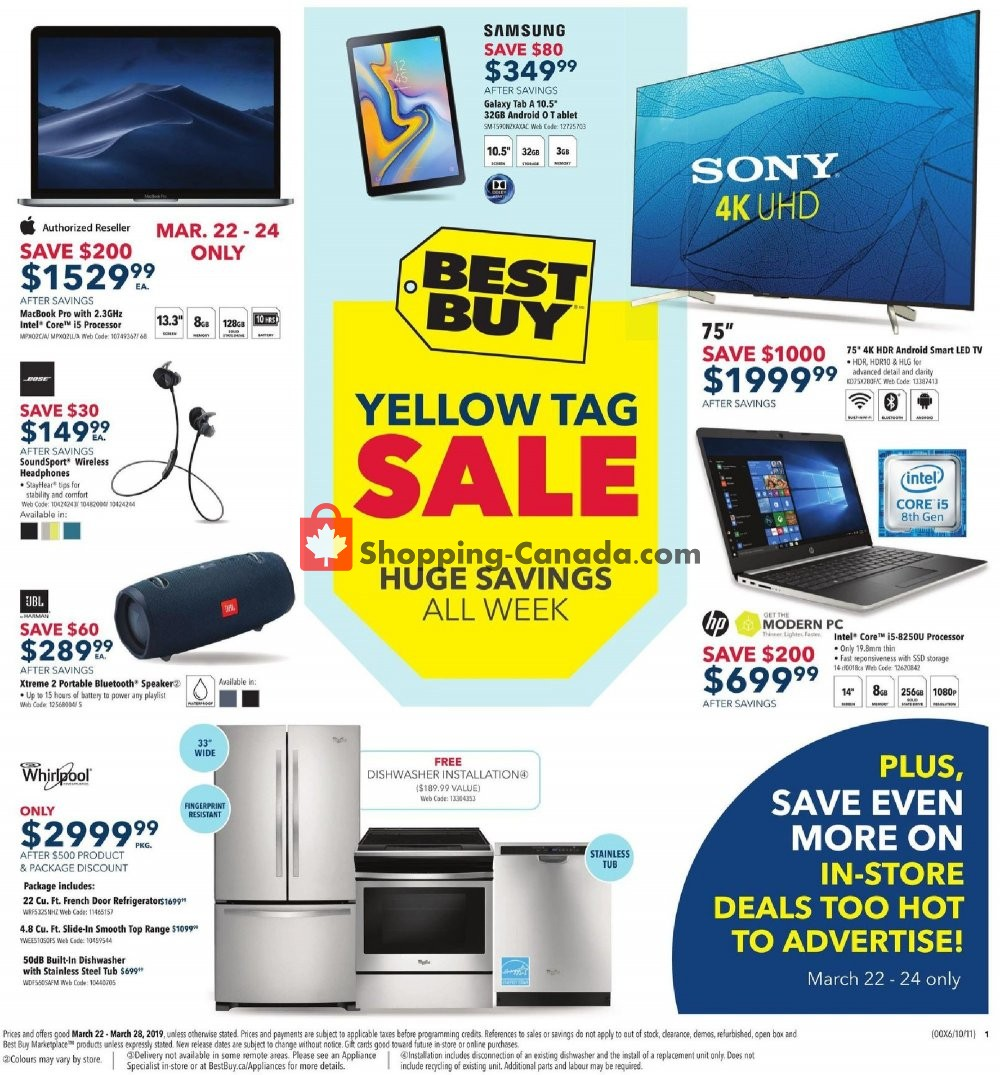 Flyer Best Buy Canada - from Friday March 22, 2019 to Thursday March 28, 2019