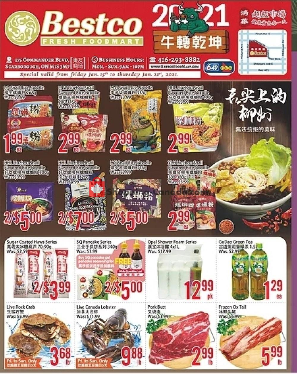 Flyer Bestco Food Mart Canada - from Friday January 15, 2021 to Thursday January 21, 2021