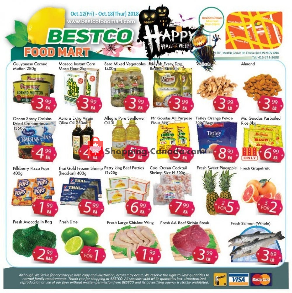 Flyer Bestco Food Mart Canada - from Friday October 12, 2018 to Thursday October 18, 2018