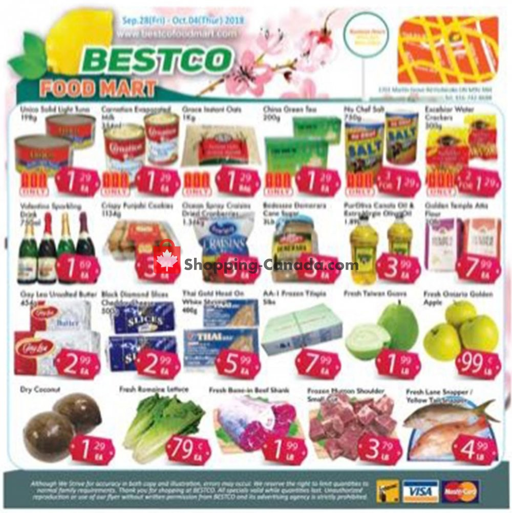 Flyer Bestco Food Mart Canada - from Friday September 28, 2018 to Thursday October 4, 2018