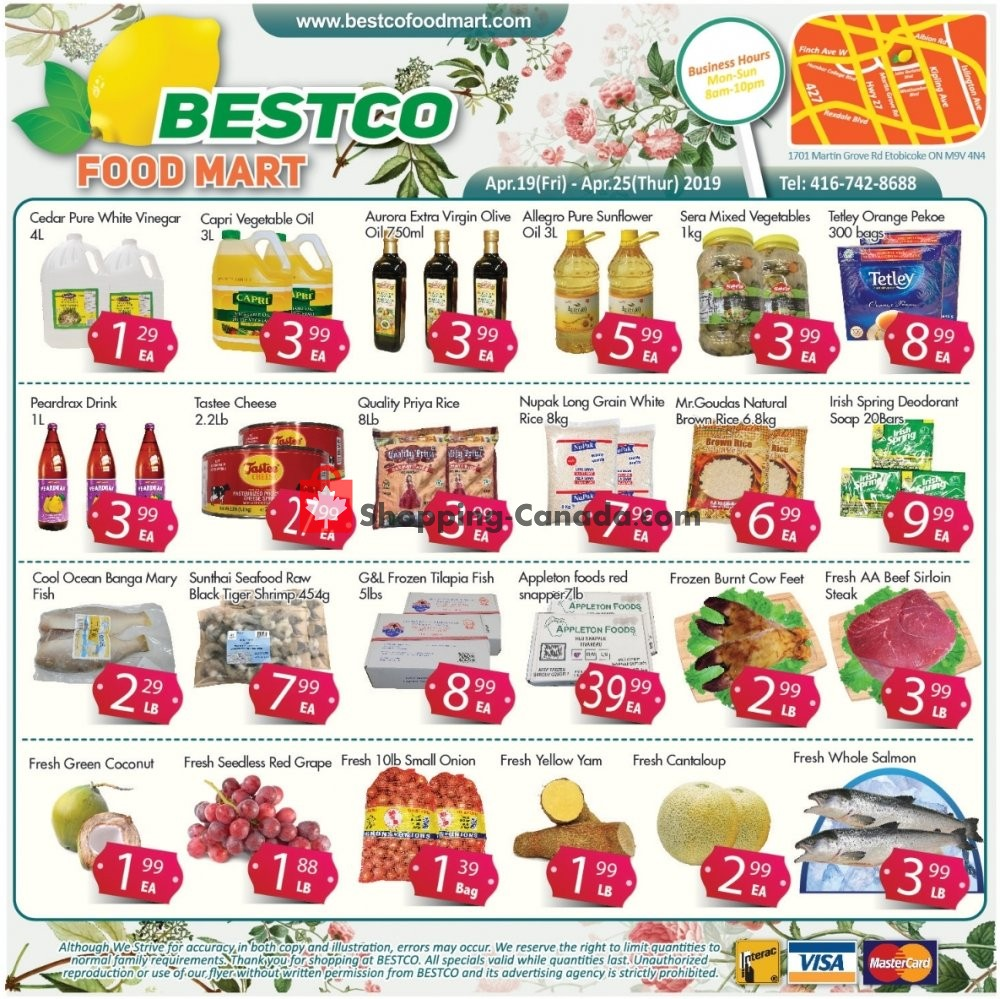 Flyer Bestco Food Mart Canada - from Friday April 19, 2019 to Thursday April 25, 2019