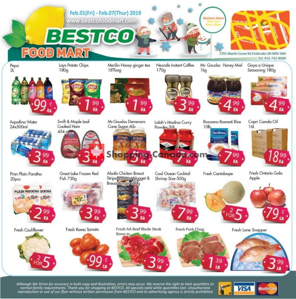 Flyer Bestco Food Mart Canada - from Friday February 1, 2019 to Thursday February 7, 2019