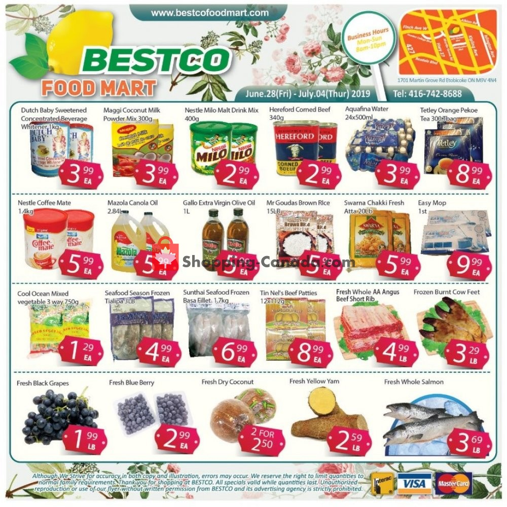 Flyer Bestco Food Mart Canada - from Friday June 28, 2019 to Thursday July 4, 2019