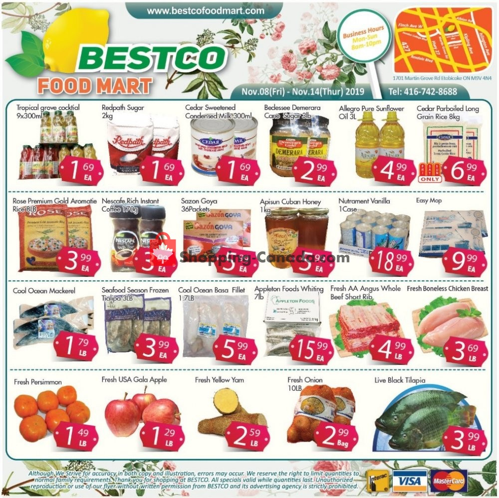 Flyer Bestco Food Mart Canada - from Friday November 8, 2019 to Thursday November 14, 2019