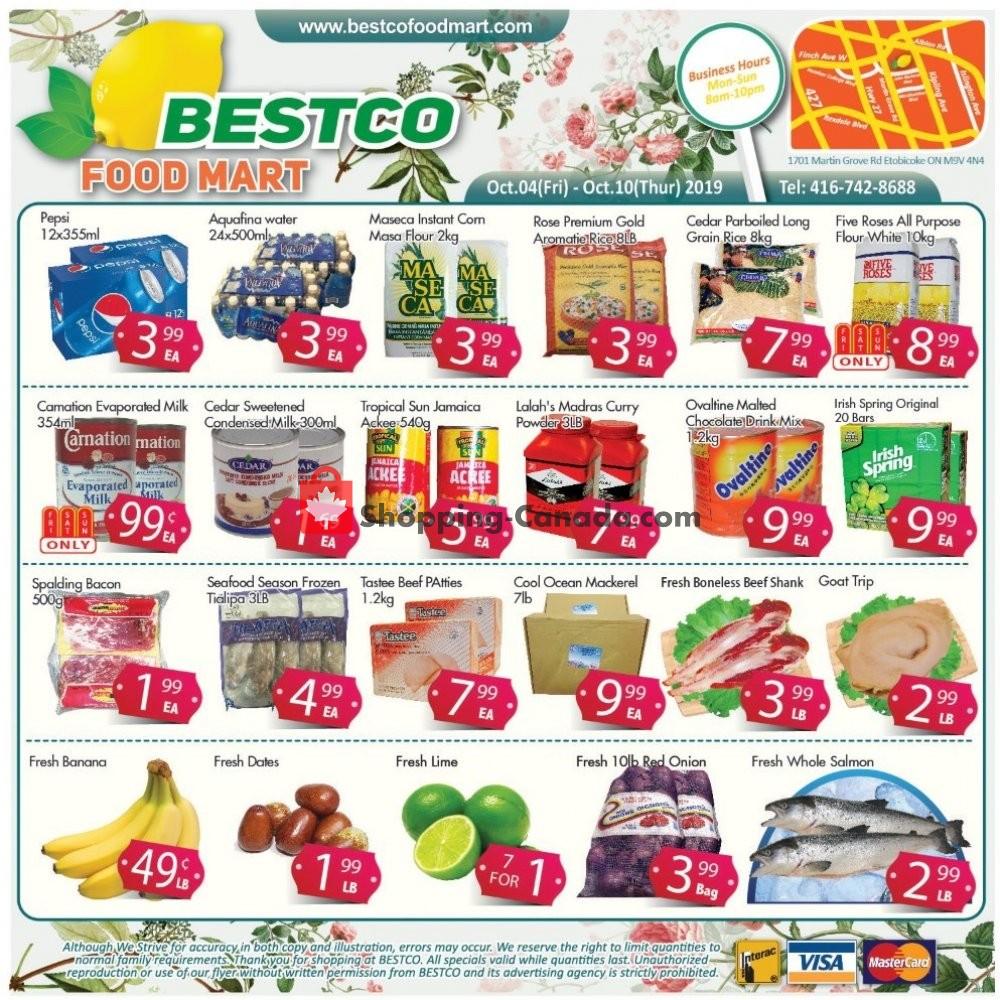 Flyer Bestco Food Mart Canada - from Friday October 4, 2019 to Thursday October 10, 2019