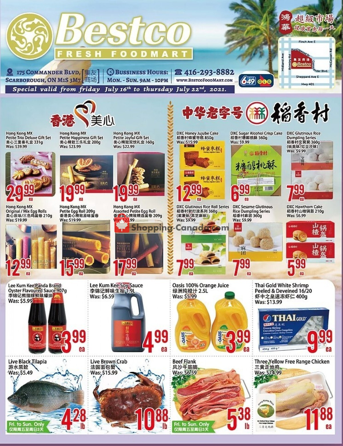 Flyer Bestco Food Mart Canada - from Friday July 16, 2021 to Thursday July 22, 2021