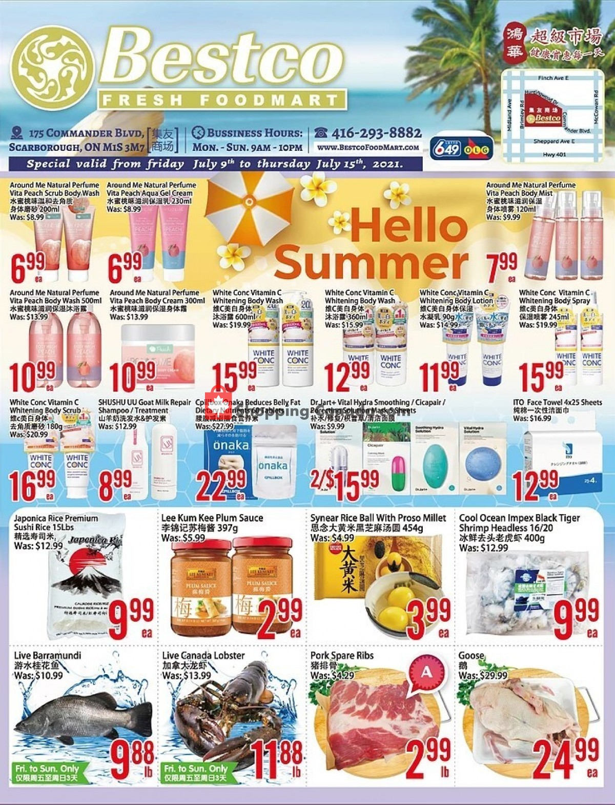 Flyer Bestco Food Mart Canada - from Friday July 9, 2021 to Thursday July 15, 2021