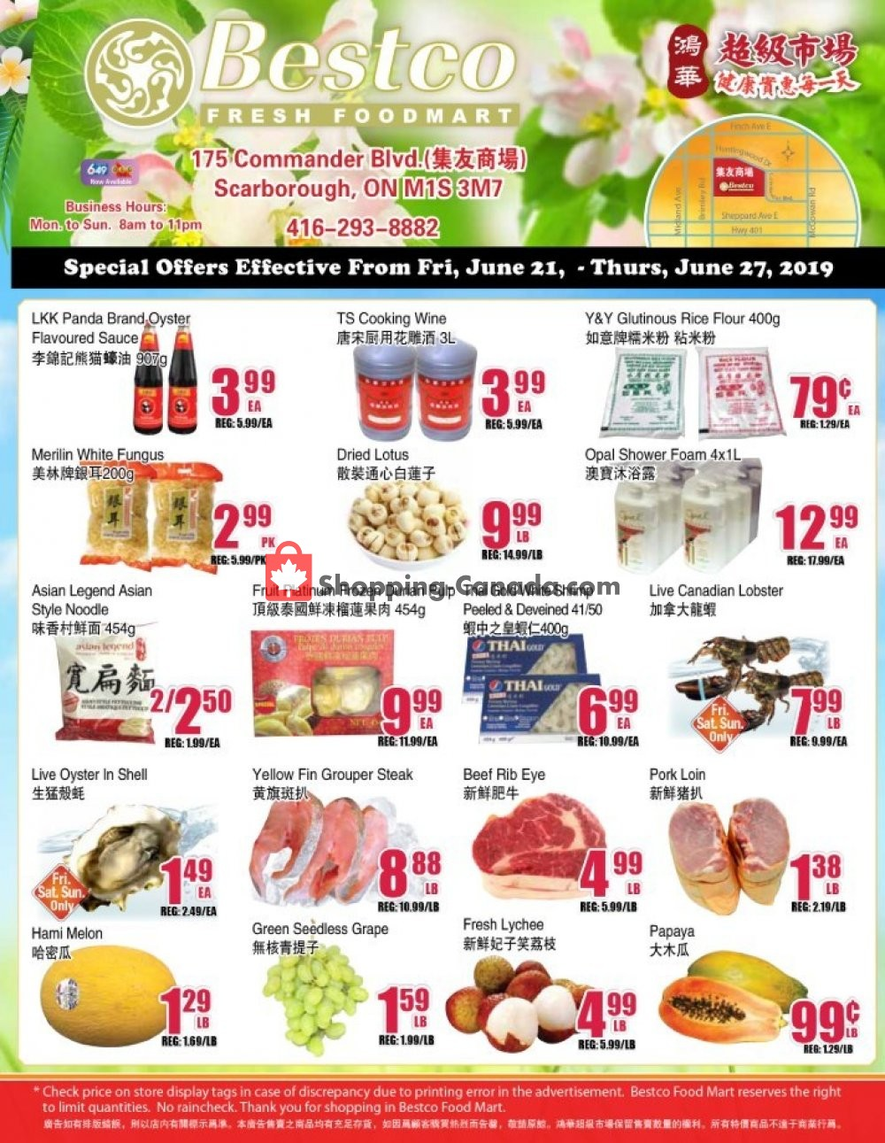 Flyer Bestco Food Mart Canada - from Friday June 21, 2019 to Thursday June 27, 2019