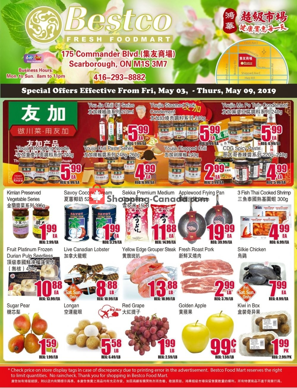 Flyer Bestco Food Mart Canada - from Friday May 3, 2019 to Thursday May 9, 2019