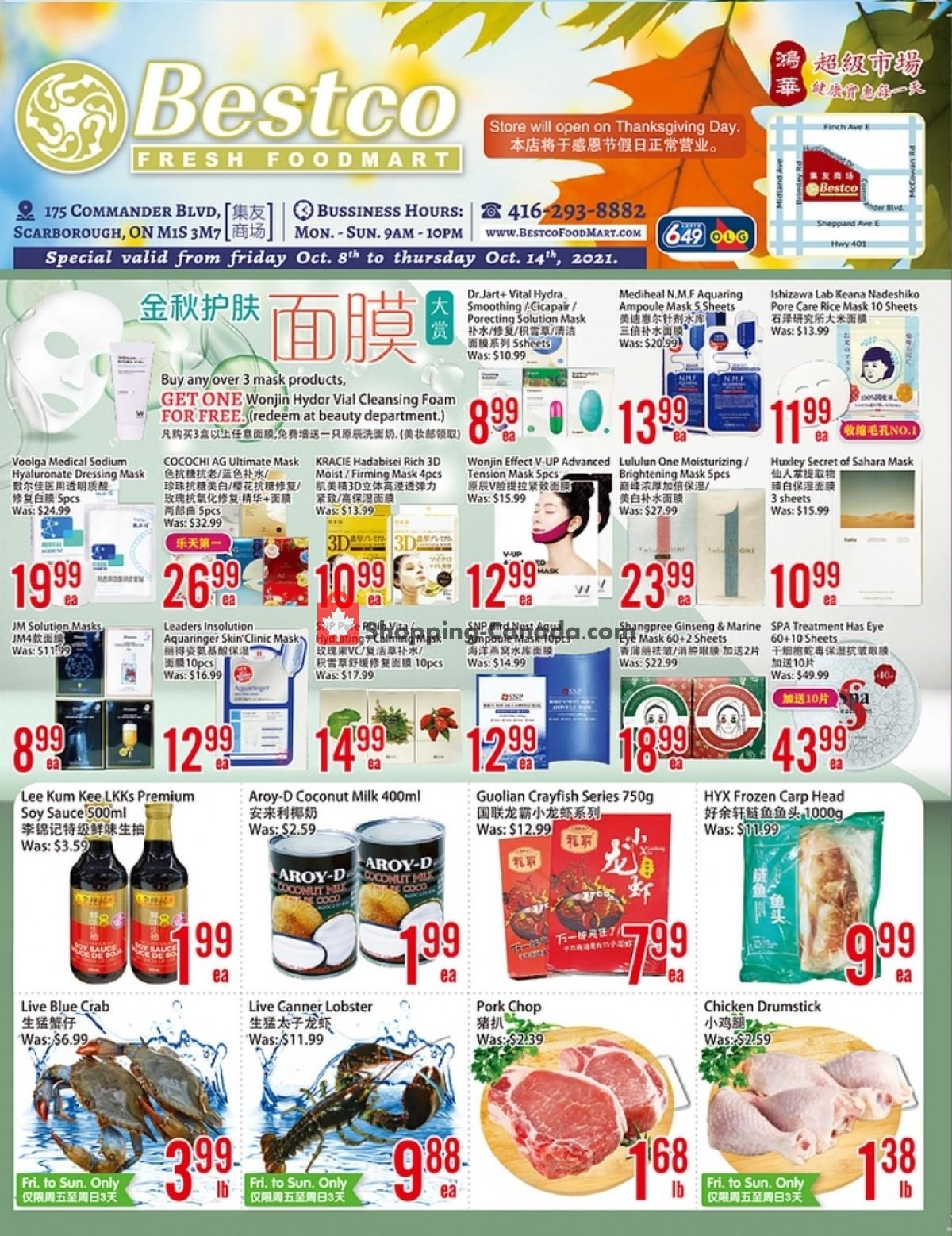 Flyer Bestco Food Mart Canada - from Friday October 8, 2021 to Thursday October 14, 2021